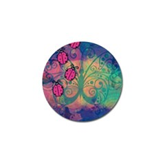 Background Colorful Bugs Golf Ball Marker (10 Pack)