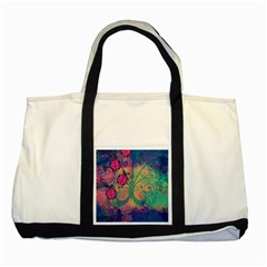 Background Colorful Bugs Two Tone Tote Bag