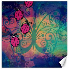 Background Colorful Bugs Canvas 12  X 12
