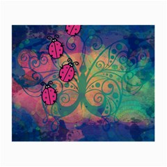 Background Colorful Bugs Small Glasses Cloth (2 Side)