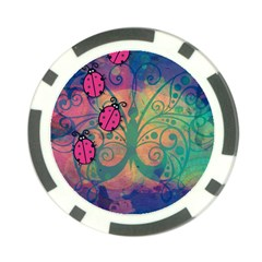 Background Colorful Bugs Poker Chip Card Guard