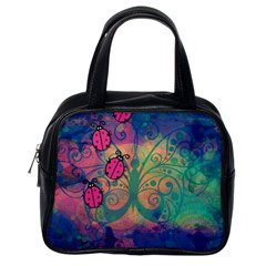 Background Colorful Bugs Classic Handbags (one Side)