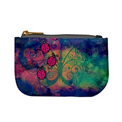 Background Colorful Bugs Mini Coin Purses