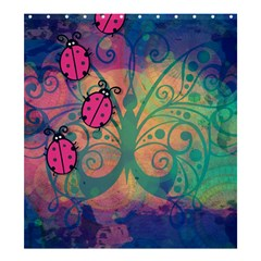 Background Colorful Bugs Shower Curtain 66  X 72  (large)