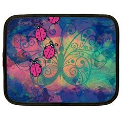 Background Colorful Bugs Netbook Case (xxl)