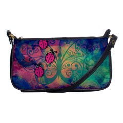 Background Colorful Bugs Shoulder Clutch Bags