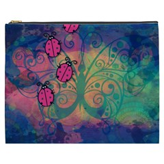 Background Colorful Bugs Cosmetic Bag (xxxl)