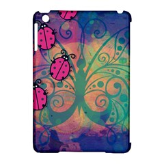 Background Colorful Bugs Apple Ipad Mini Hardshell Case (compatible With Smart Cover)