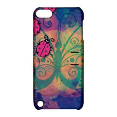 Background Colorful Bugs Apple Ipod Touch 5 Hardshell Case With Stand