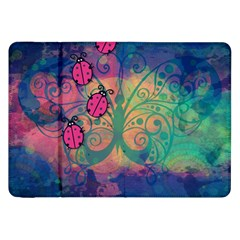 Background Colorful Bugs Samsung Galaxy Tab 8 9  P7300 Flip Case