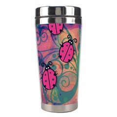 Background Colorful Bugs Stainless Steel Travel Tumblers