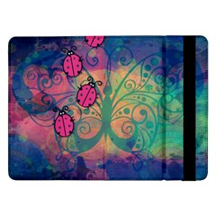 Background Colorful Bugs Samsung Galaxy Tab Pro 12 2  Flip Case