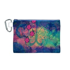 Background Colorful Bugs Canvas Cosmetic Bag (m)