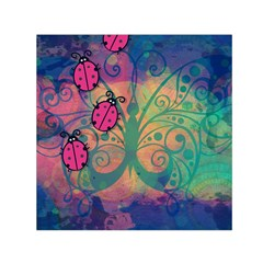 Background Colorful Bugs Small Satin Scarf (square)