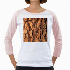 Bark Texture Wood Large Rough Red Wood Outside California Girly Raglans