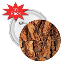 Bark Texture Wood Large Rough Red Wood Outside California 2 25  Buttons (10 Pack)