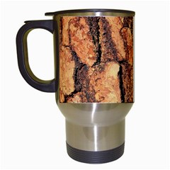 Bark Texture Wood Large Rough Red Wood Outside California Travel Mugs (white)