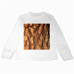 Bark Texture Wood Large Rough Red Wood Outside California Kids Long Sleeve T Shirts
