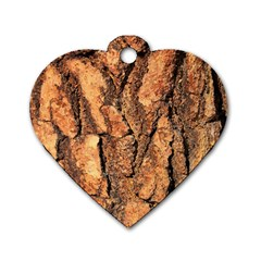 Bark Texture Wood Large Rough Red Wood Outside California Dog Tag Heart (one Side)