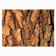 Bark Texture Wood Large Rough Red Wood Outside California Large Glasses Cloth (2 Side)