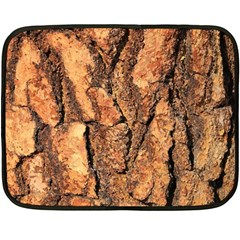 Bark Texture Wood Large Rough Red Wood Outside California Double Sided Fleece Blanket (mini)