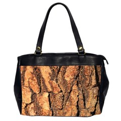 Bark Texture Wood Large Rough Red Wood Outside California Office Handbags (2 Sides)