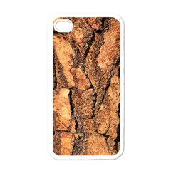 Bark Texture Wood Large Rough Red Wood Outside California Apple Iphone 4 Case (white)