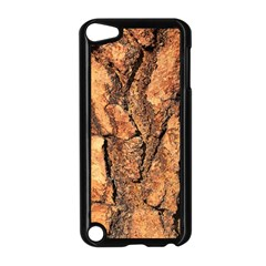 Bark Texture Wood Large Rough Red Wood Outside California Apple Ipod Touch 5 Case (black)