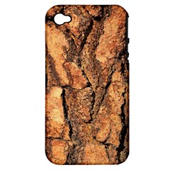 Bark Texture Wood Large Rough Red Wood Outside California Apple Iphone 4/4s Hardshell Case (pc+silicone)