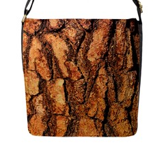 Bark Texture Wood Large Rough Red Wood Outside California Flap Messenger Bag (l)