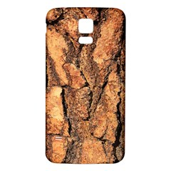 Bark Texture Wood Large Rough Red Wood Outside California Samsung Galaxy S5 Back Case (white)