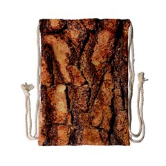 Bark Texture Wood Large Rough Red Wood Outside California Drawstring Bag (small)