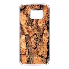 Bark Texture Wood Large Rough Red Wood Outside California Samsung Galaxy S7 White Seamless Case
