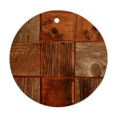 Barnwood Unfinished Ornament (round)