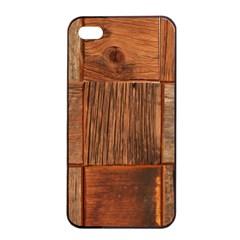 Barnwood Unfinished Apple Iphone 4/4s Seamless Case (black)