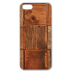 Barnwood Unfinished Apple Seamless Iphone 5 Case (clear)