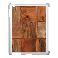 Barnwood Unfinished Apple Ipad 3/4 Case (white)
