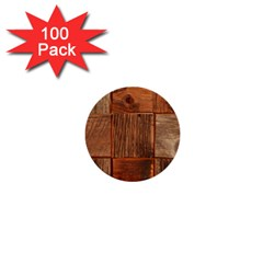 Barnwood Unfinished 1  Mini Buttons (100 Pack)