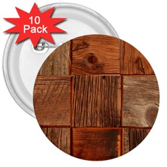 Barnwood Unfinished 3  Buttons (10 Pack)