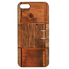 Barnwood Unfinished Apple Iphone 5 Hardshell Case With Stand
