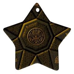 Aztec Runes Ornament (star)