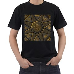 Aztec Runes Men s T Shirt (black) (two Sided)