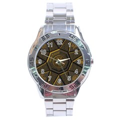 Aztec Runes Stainless Steel Analogue Watch