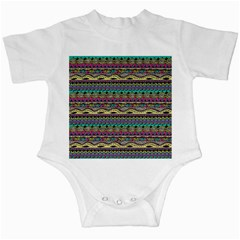 Aztec Pattern Cool Colors Infant Creepers