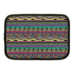 Aztec Pattern Cool Colors Netbook Case (medium)