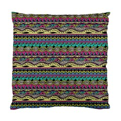 Aztec Pattern Cool Colors Standard Cushion Case (one Side)