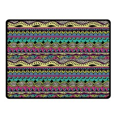 Aztec Pattern Cool Colors Fleece Blanket (small)