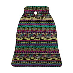 Aztec Pattern Cool Colors Ornament (bell)