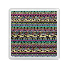Aztec Pattern Cool Colors Memory Card Reader (square)