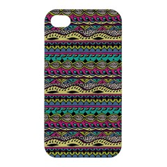 Aztec Pattern Cool Colors Apple Iphone 4/4s Hardshell Case